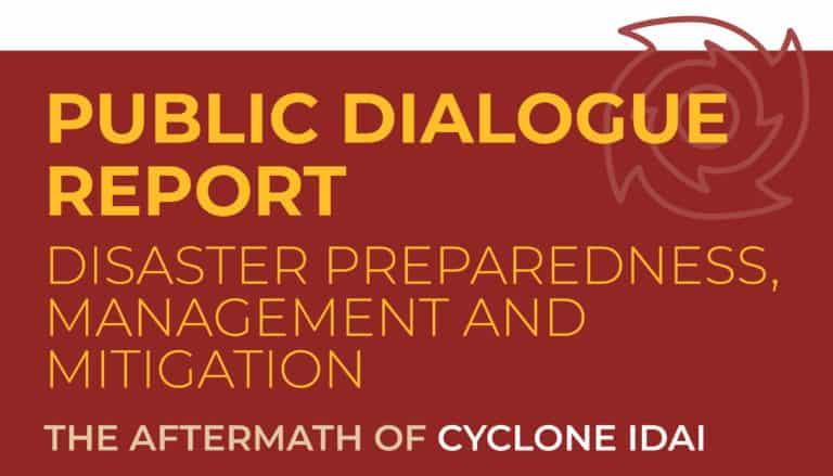Disaster Management Report – Cyclone Idai