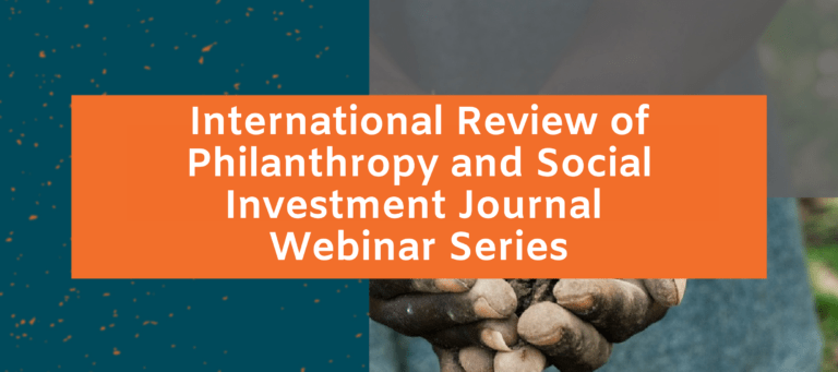 Reflecting on the launch of the International Review of Philanthropy and Social Investment Journal