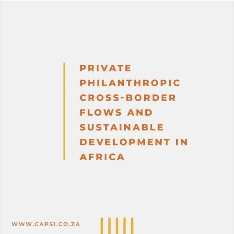 Private Philanthropic Cross-Border Flows and Sustainable Development in Africa