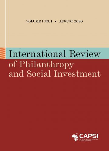 International Review on Philanthropy & Social Investment